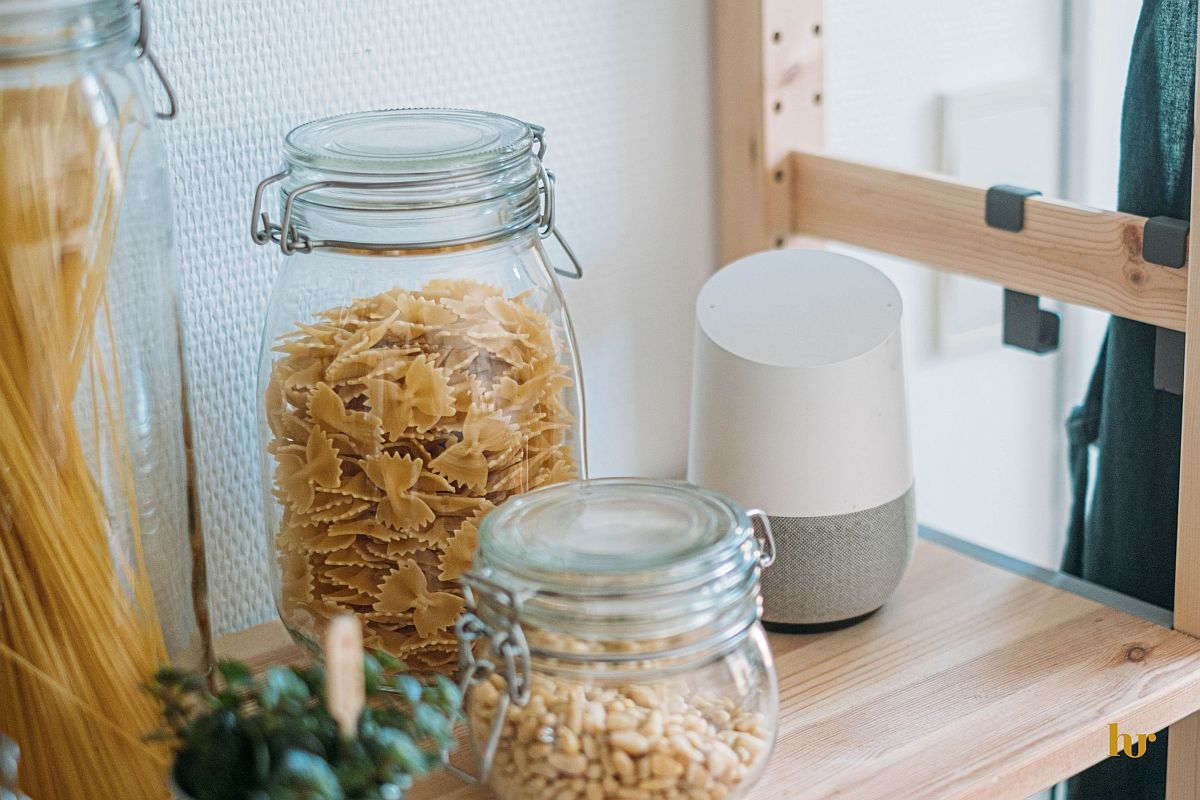voice search module on a kitchen shelf; voice search trend concept